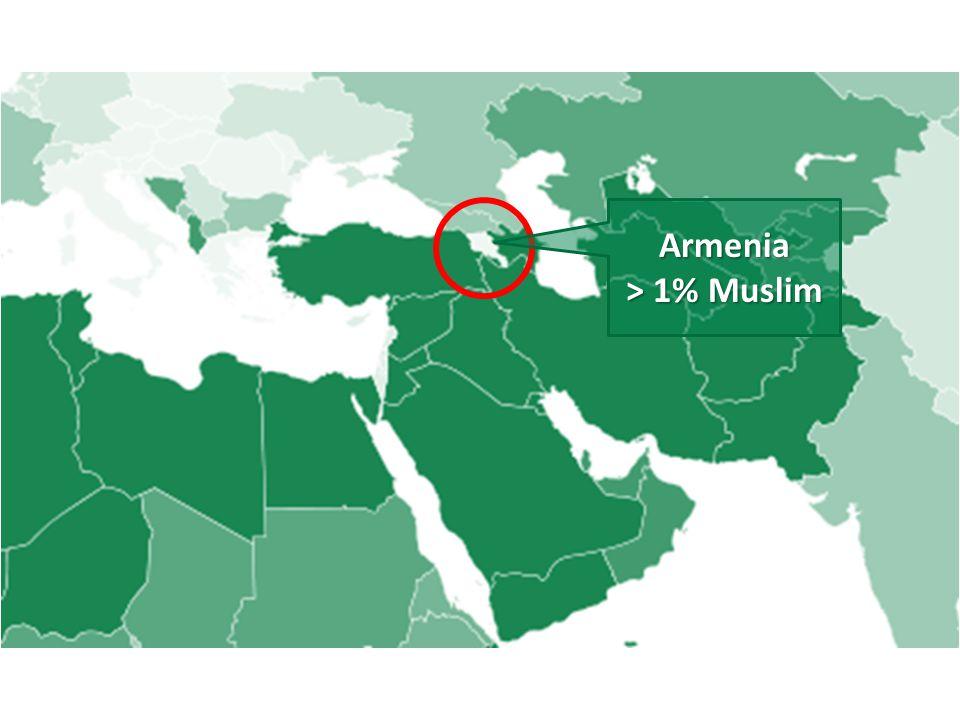 Armenia > 1% Muslim