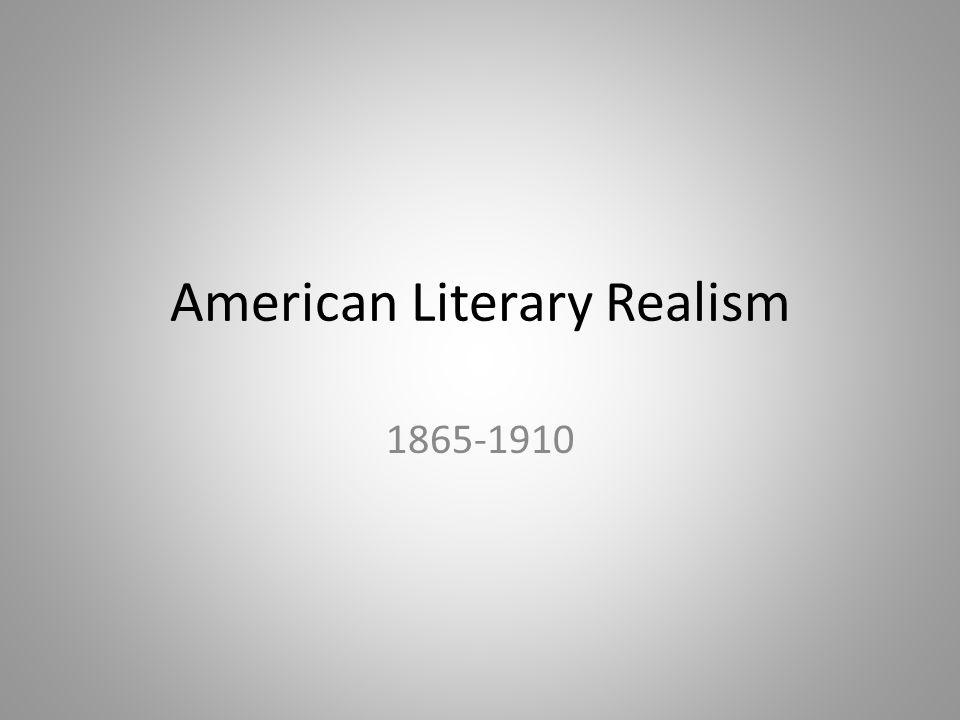 American Literary Realism 1865-1910