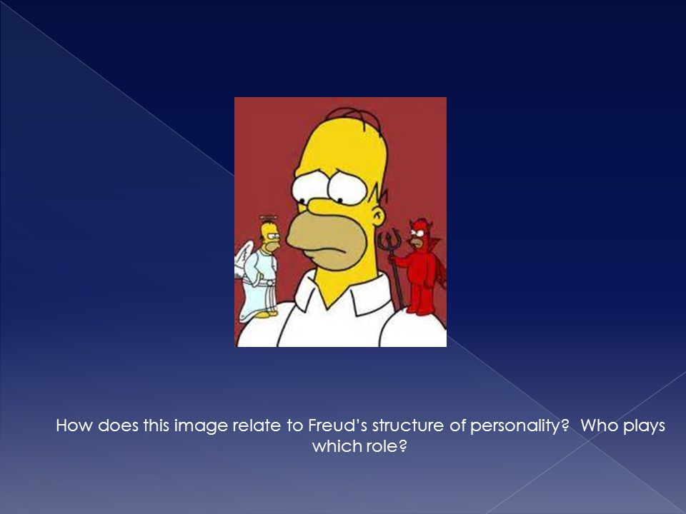How does this image relate to Freud's structure of personality? Who plays which role?