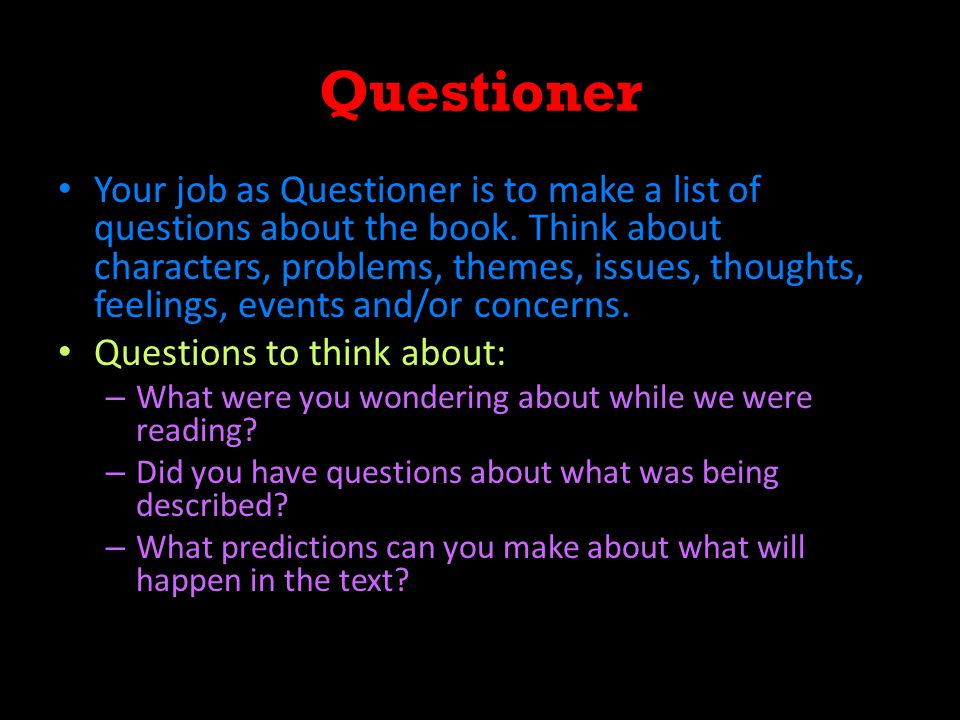 Questioner – Mrs.C's Example 1.What happened during the 'Big Shake'.