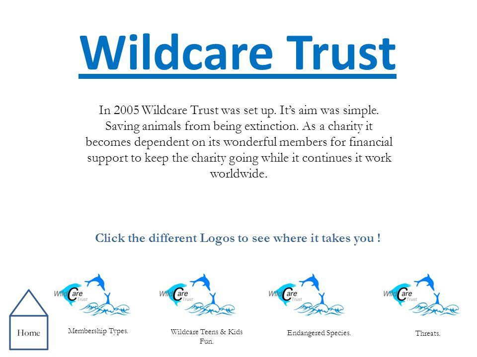 Membership Types Threats.Endangered Species. Gold Platinum Silver Wildcare Teens Wildcare Kids.
