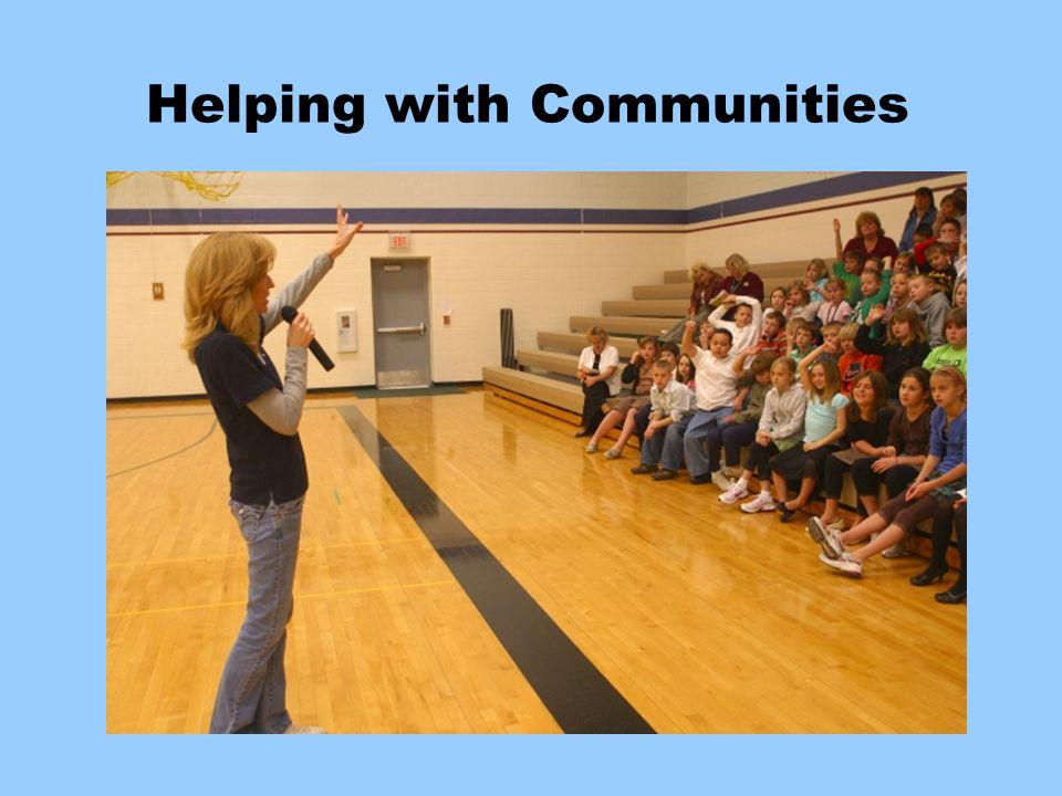 Helping With Communities Helping with Communities