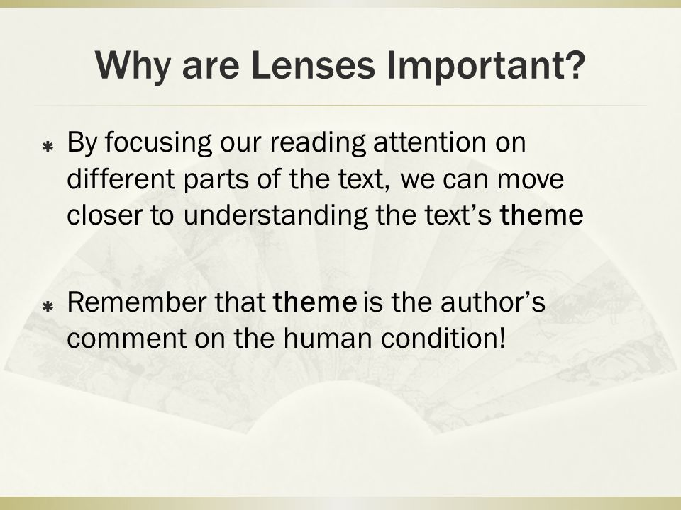 Why are Lenses Important.