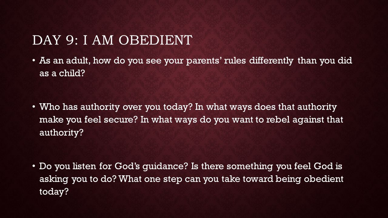 DAY 10: I SEEK GOD'S GUIDANCE How do you seek guidance from God.