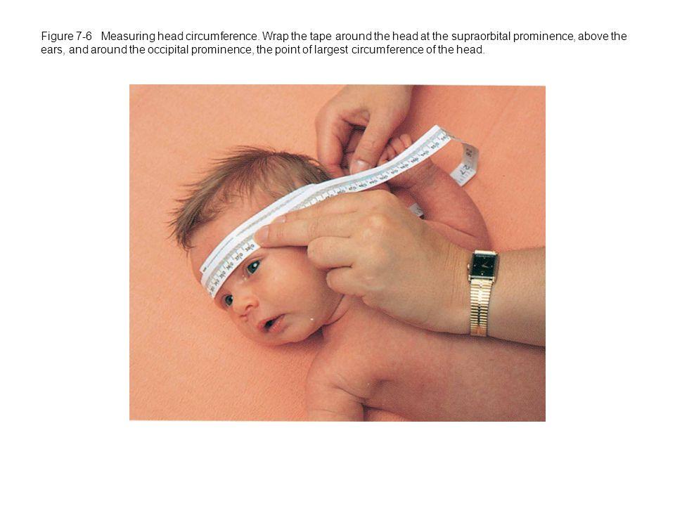 Figure 7-6 Measuring head circumference.