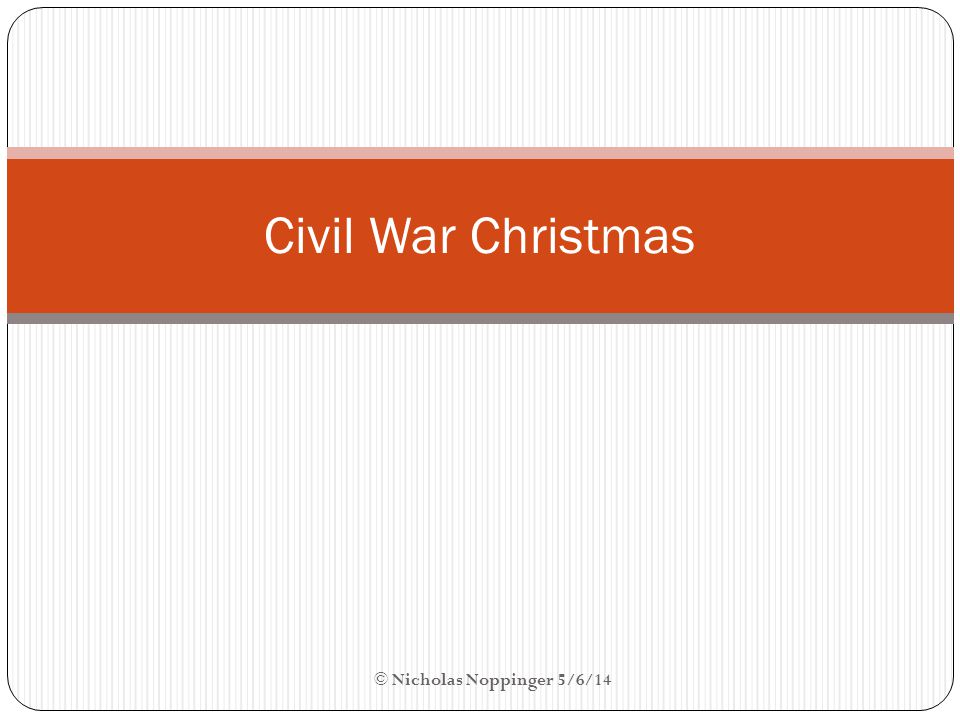 Christmas for Slaves Generally received time off work (not including House staff) Were allowed to feast and relax Usually received gifts from their master's