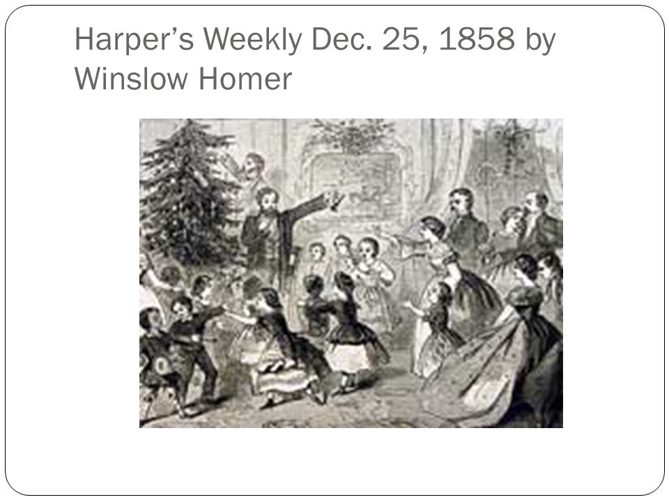 Harper's Weekly Dec. 25, 1858 by Winslow Homer
