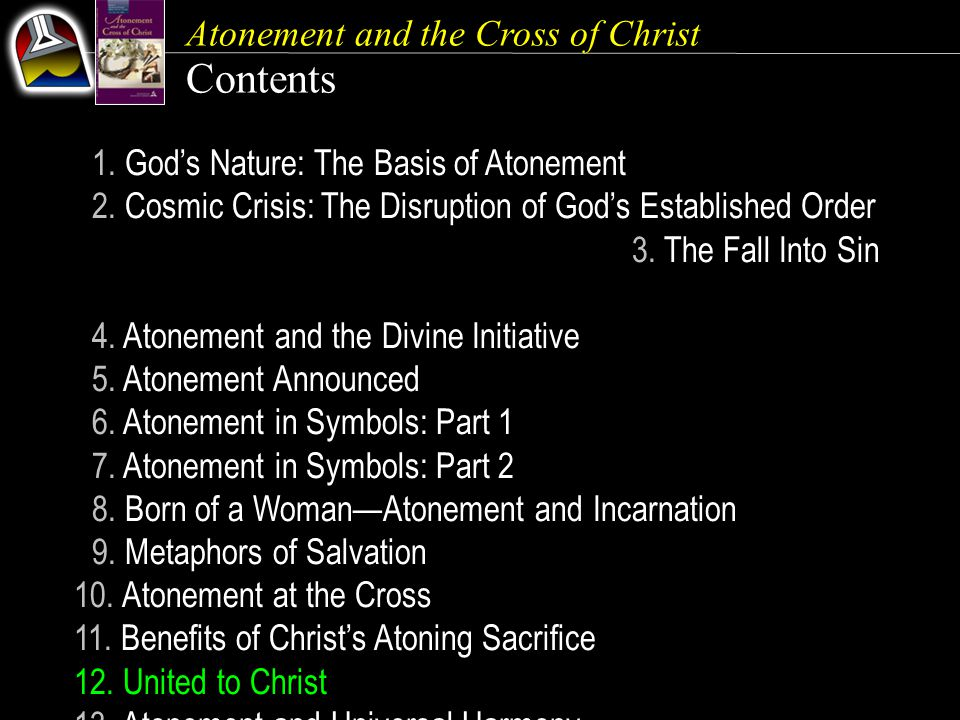Atonement and the Cross of Christ Our Goal {181} As you study the meaning of Christ's substitutionary sacrifice, be moved toward a greater commitment to the One who suffered so much for you, so that whether you live or die, you can do so in peace.