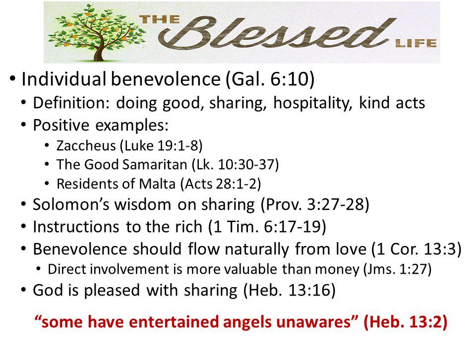 Individual benevolence (Gal.