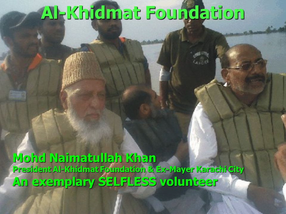 Al-Khidmat Foundation Think for Flood Survivors Think for Al-Khidmat Foundation Flood Devastation