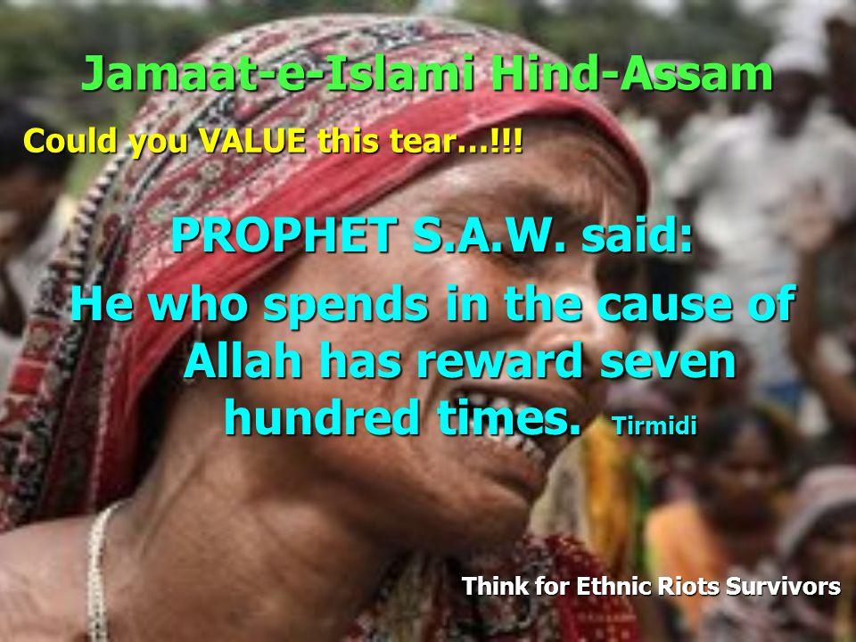 Jamaat-e-Islami Hind-Assam PROPHET S.A.W.