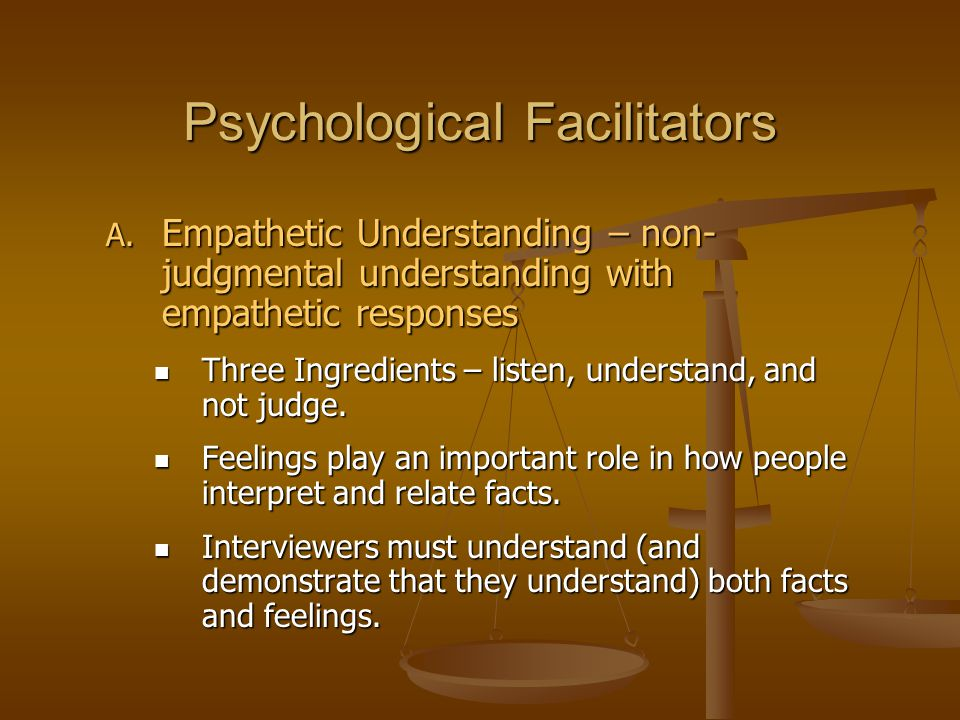 Psychological Facilitators A.