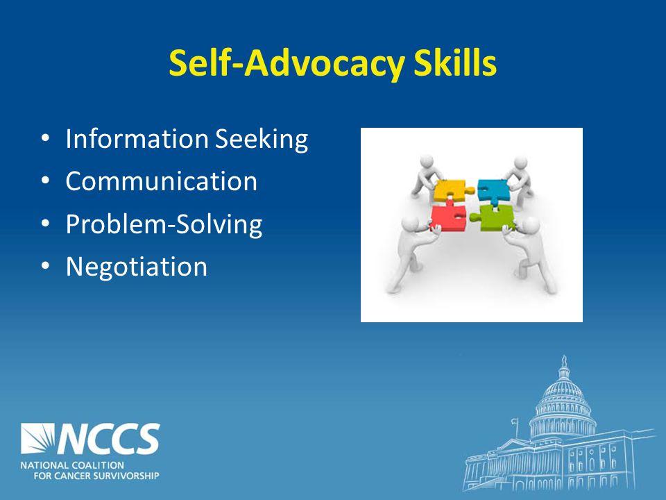 Self-Advocacy Skills Information Seeking Communication Problem-Solving Negotiation