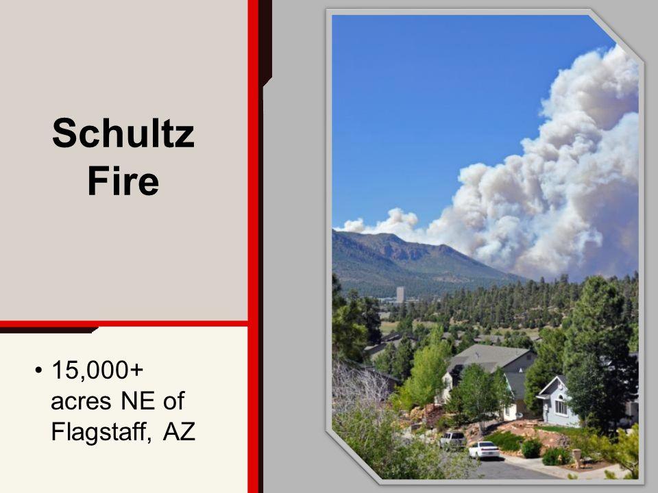 15,000+ acres NE of Flagstaff, AZ Schultz Fire