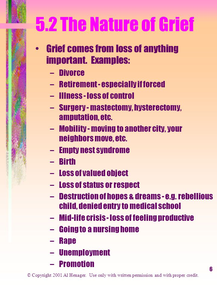 17 5.3 The Phases of Grief Four Phases of Bereavement...