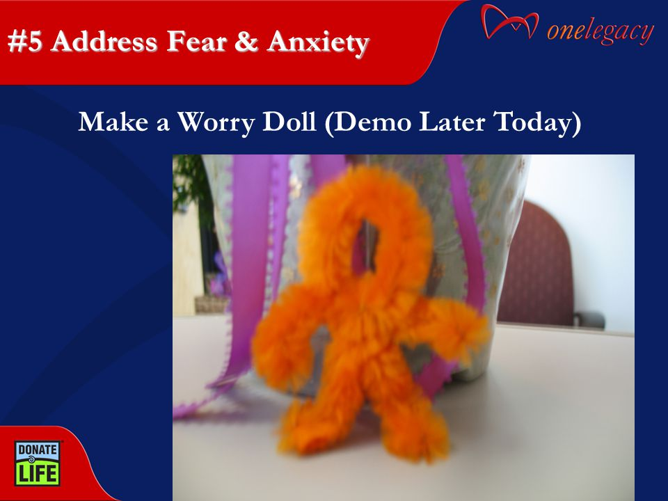 #5 Address Fear & Anxiety Make a Worry Doll (Demo Later Today)