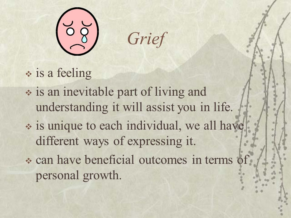Objective cont'd  Describe two culturally different methods to manage grief.