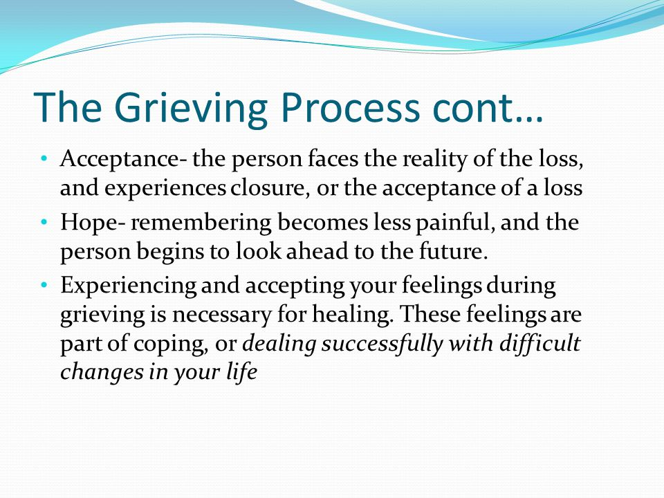 Coping With Death Death is one of the most painful losses we can experience.