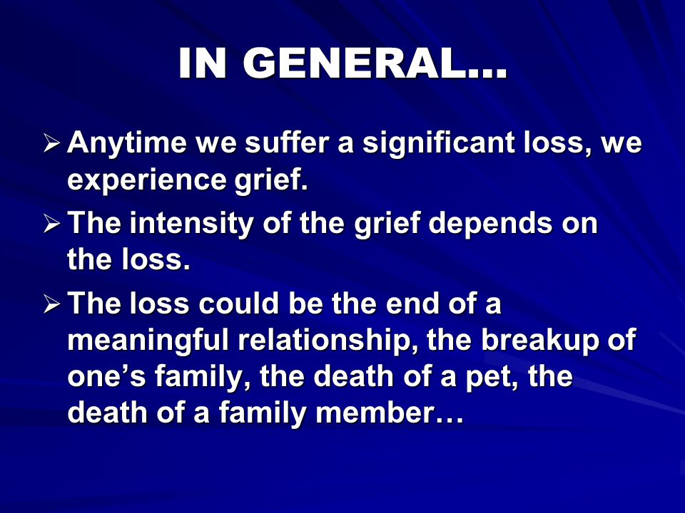 STAGE 1: DENIAL & ISOLATION  Denial and/or shock are often a person's initial reaction followed by numbness.
