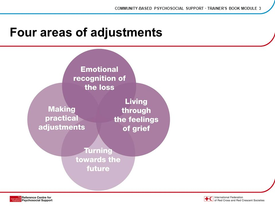 COMMUNITY-BASED PSYCHOSOCIAL SUPPORT · TRAINER S BOOK MODULE 3 Four areas of adjustments