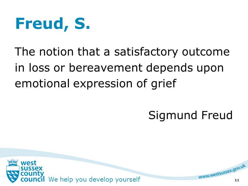 We help you develop yourself Freud, S.
