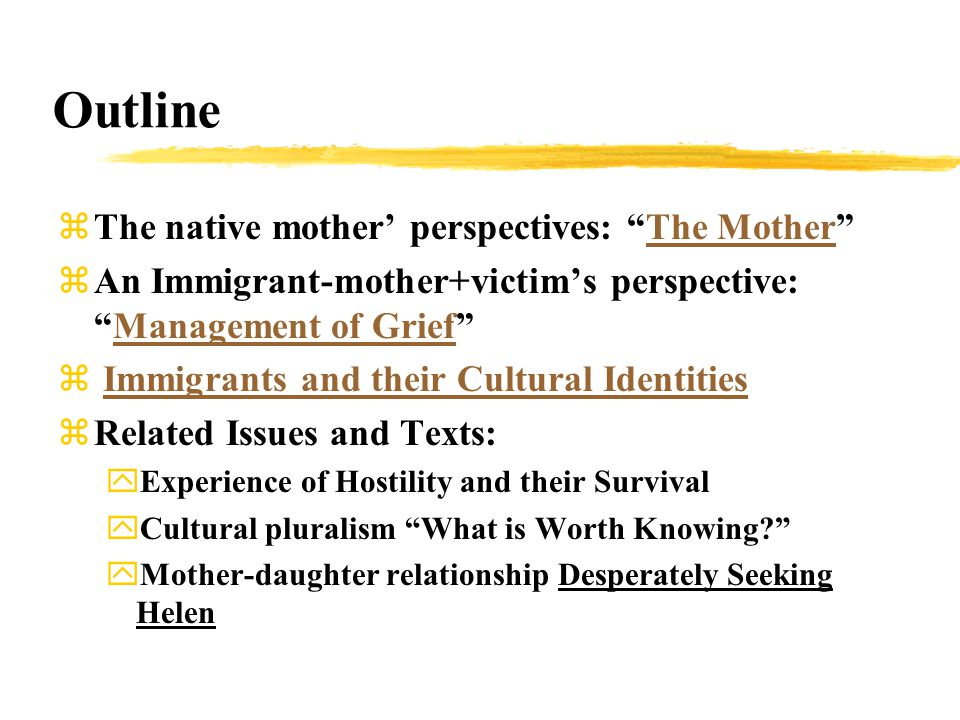 The Management of Grief : Different Ways of Management z-- The narrator (Mrs.