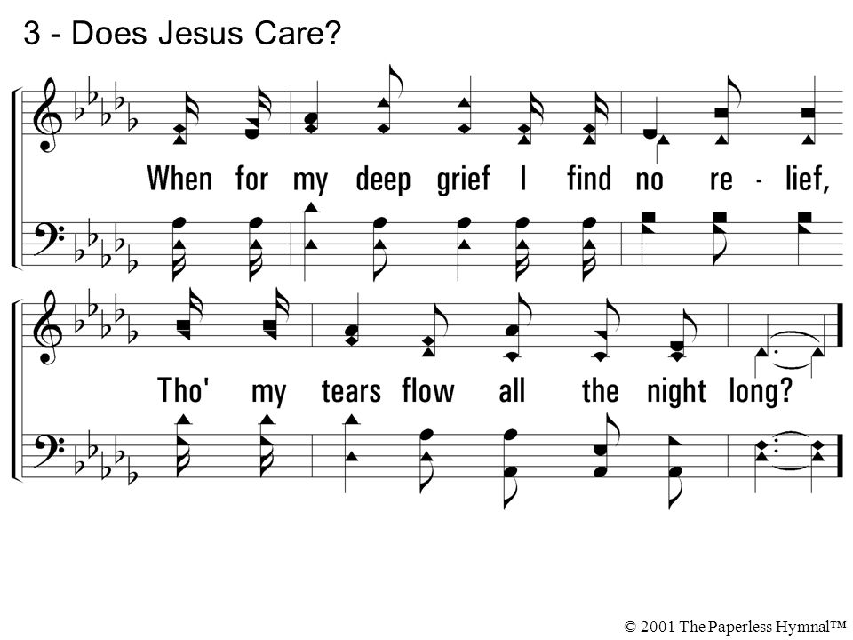 3 - Does Jesus Care? © 2001 The Paperless Hymnal™
