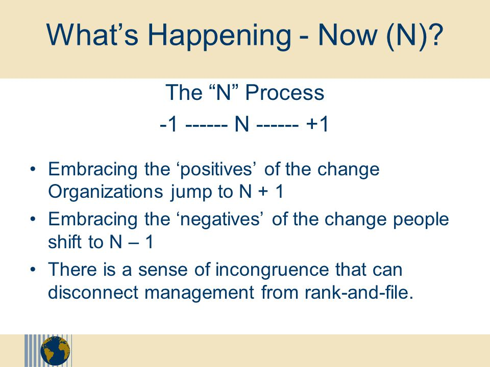 """What's happening?"" Normal Reactions to Significant Changes Shock, numbness, and withdrawal Fear, insecurity, and uncertainty Frustration, resentment,"