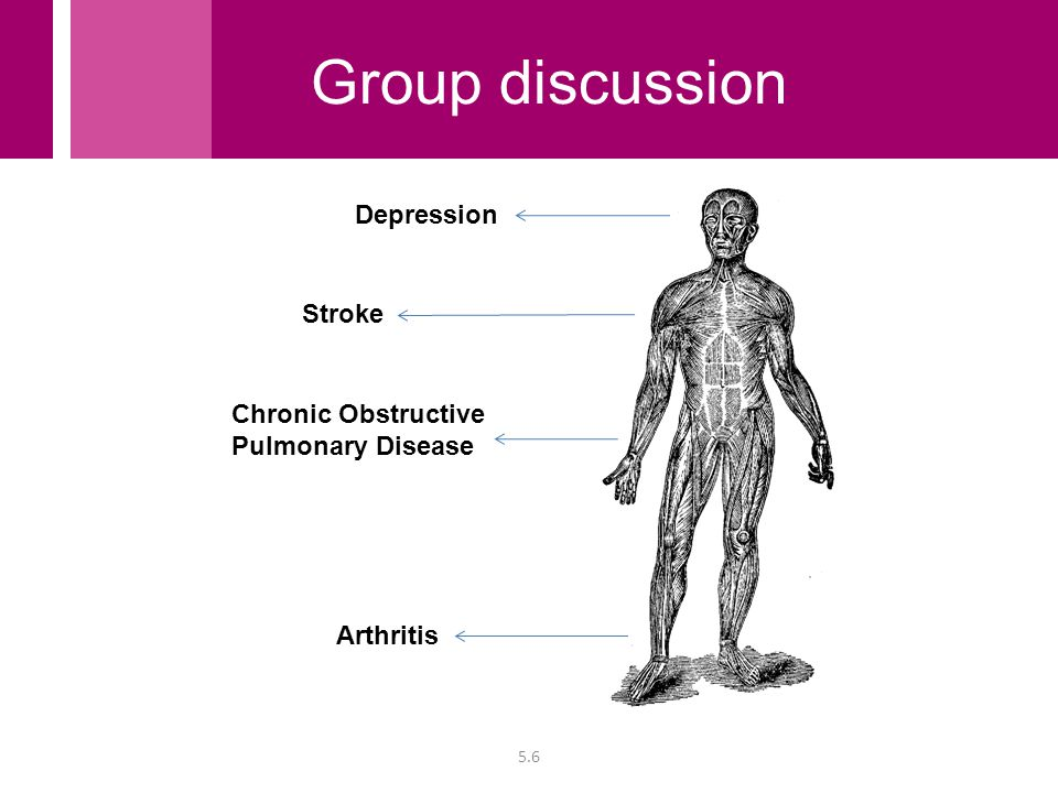 Chronic Obstructive Pulmonary Disease Stroke Depression 5.6 Arthritis Group discussion