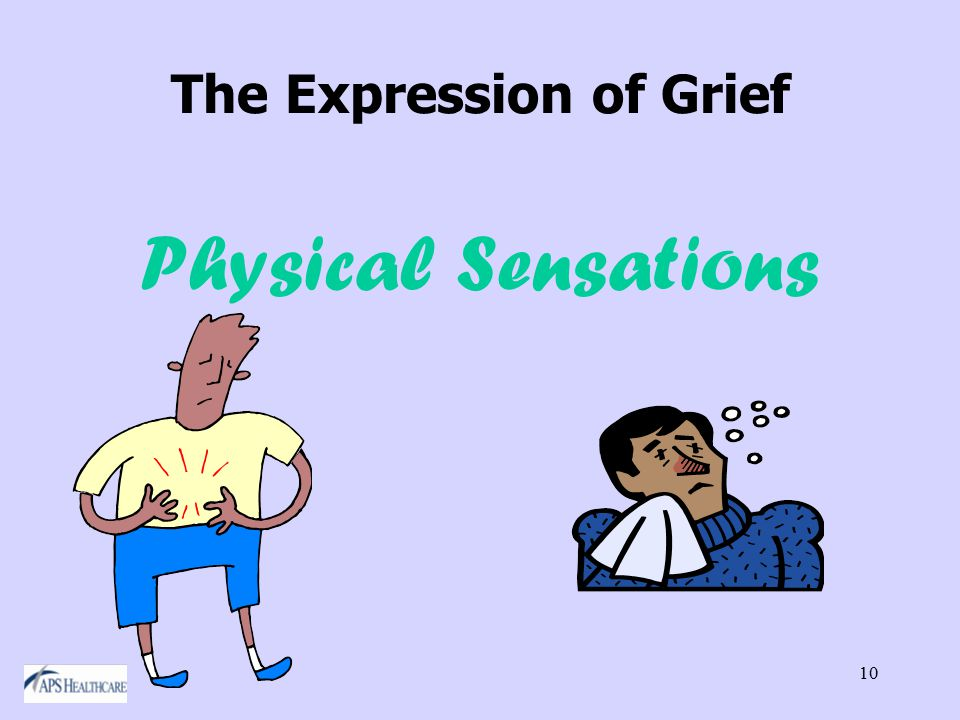 10 The Expression of Grief Physical Sensations