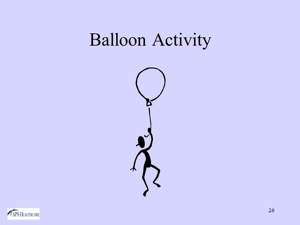 26 Balloon Activity