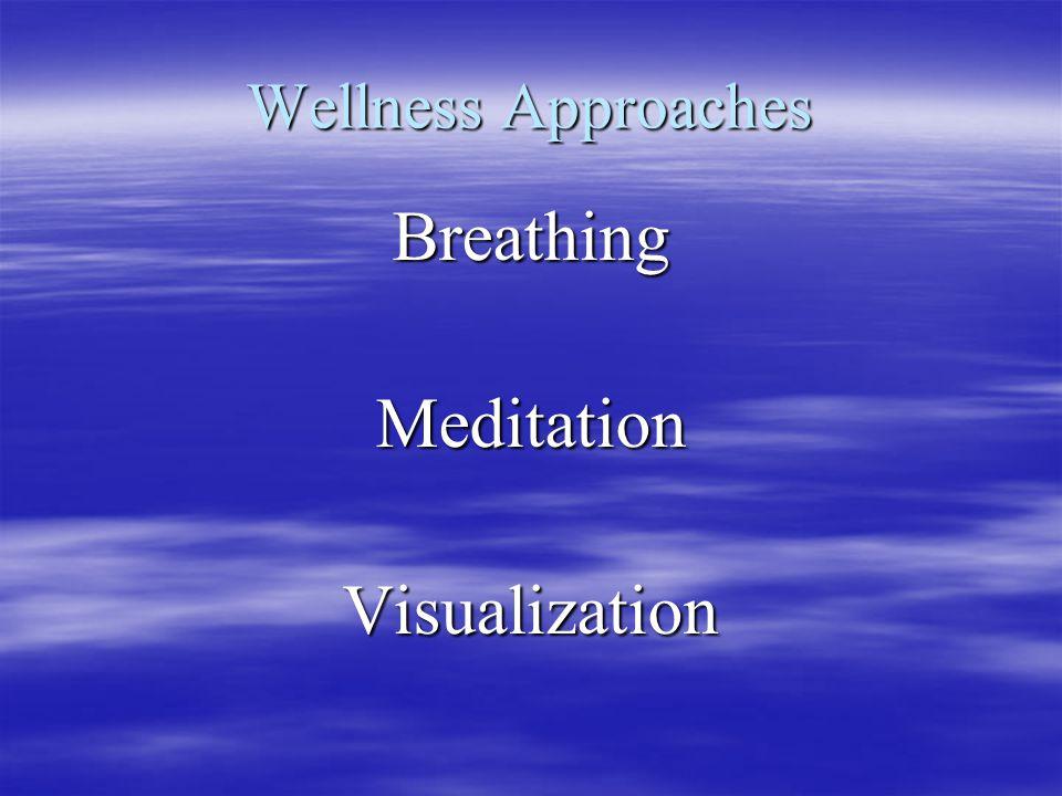 Wellness Approaches BreathingMeditationVisualization