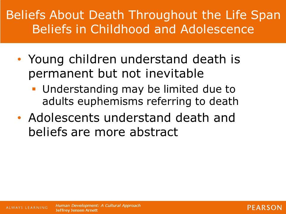 Human Development: A Cultural Approach Jeffrey Jensen Arnett Beliefs About Death Throughout the Life Span Beliefs in Childhood and Adolescence Young c