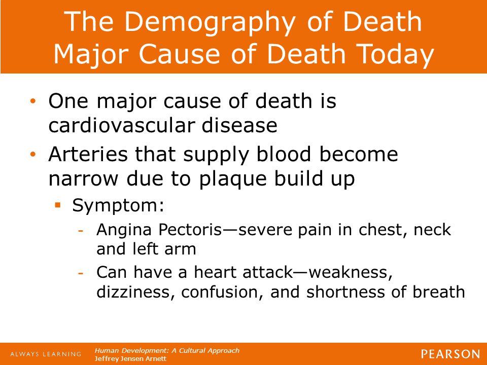 Human Development: A Cultural Approach Jeffrey Jensen Arnett The Demography of Death Major Cause of Death Today One major cause of death is cardiovasc