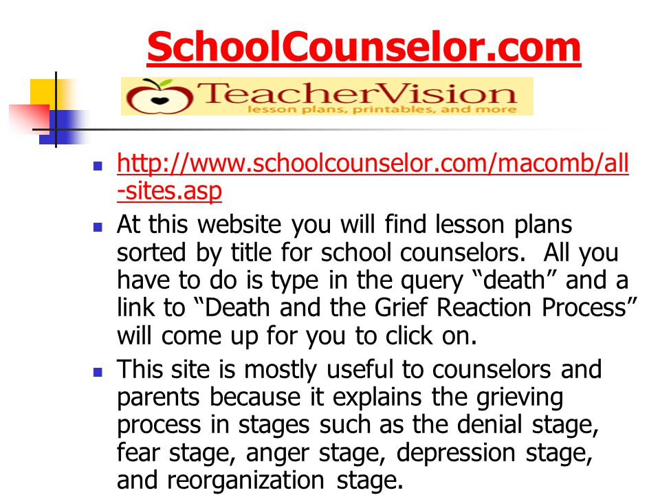 Important Information Taken From Teens Health Grief can be due to many things.
