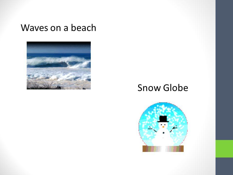 Waves on a beach Snow Globe