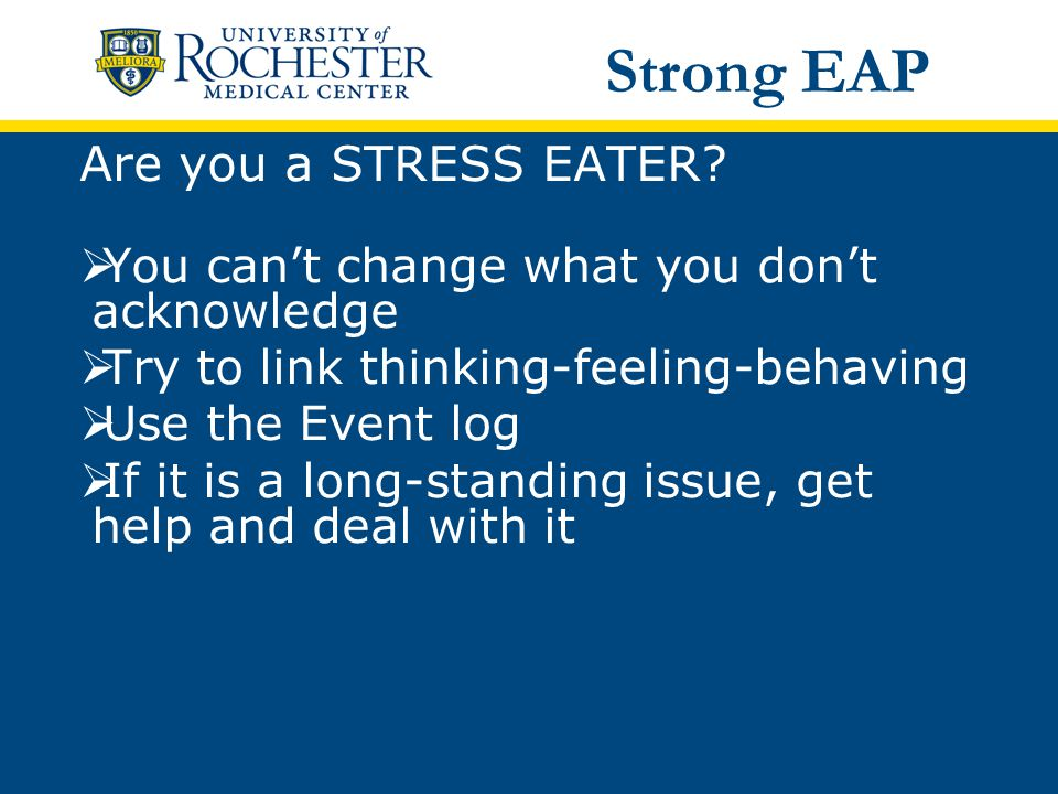 Are you a STRESS EATER.