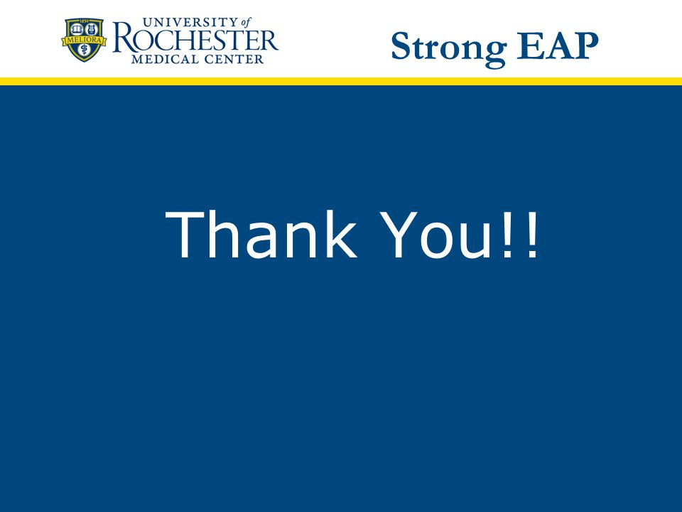 Thank You!! Strong EAP