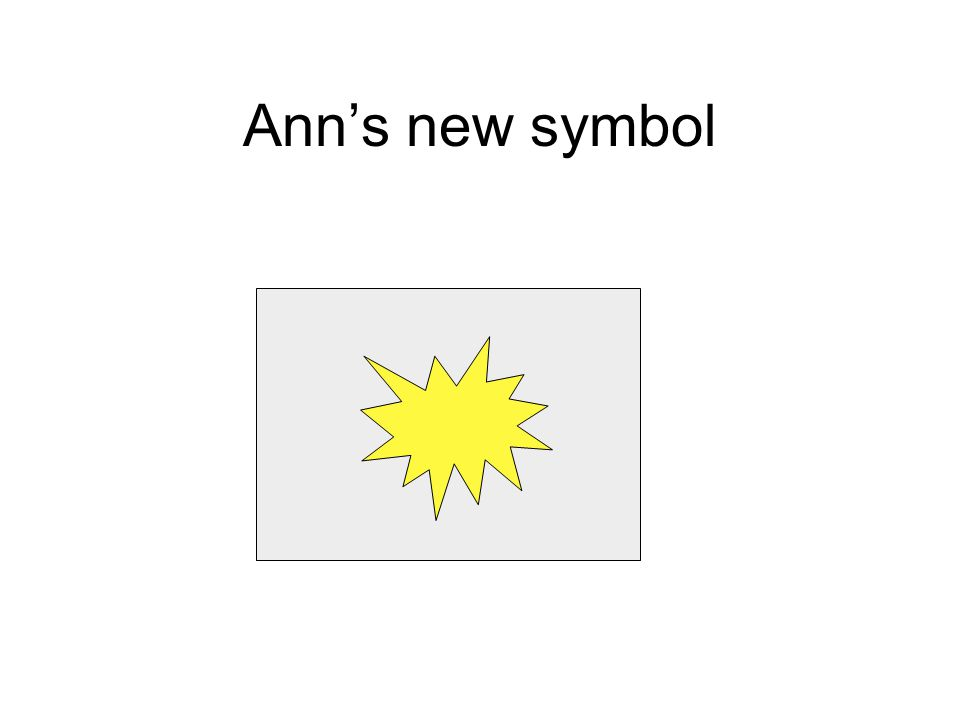 Ann's new symbol