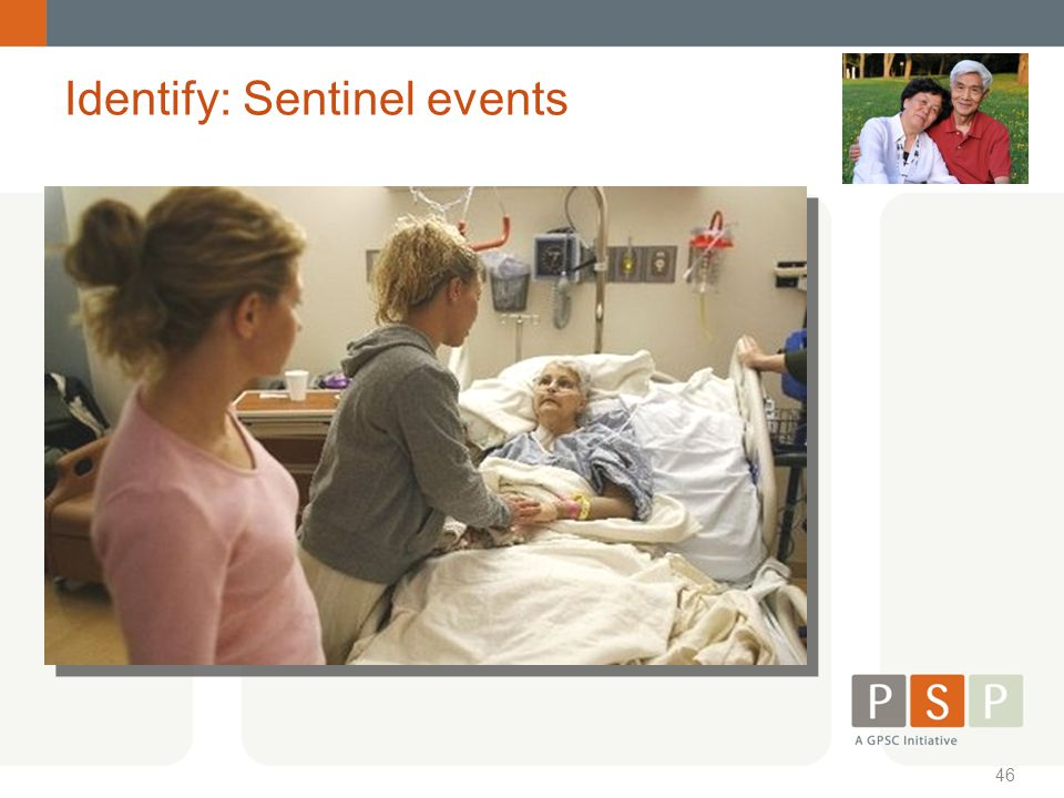 46 Identify: Sentinel events