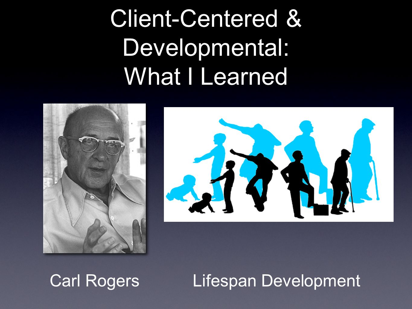 Client-Centered & Developmental: What I Learned Carl RogersLifespan Development