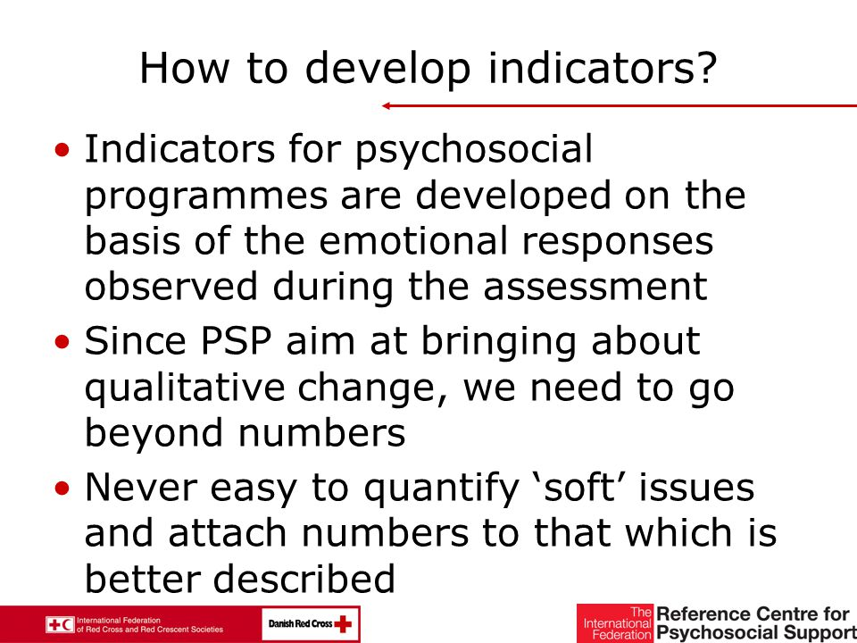 23 How to develop indicators.