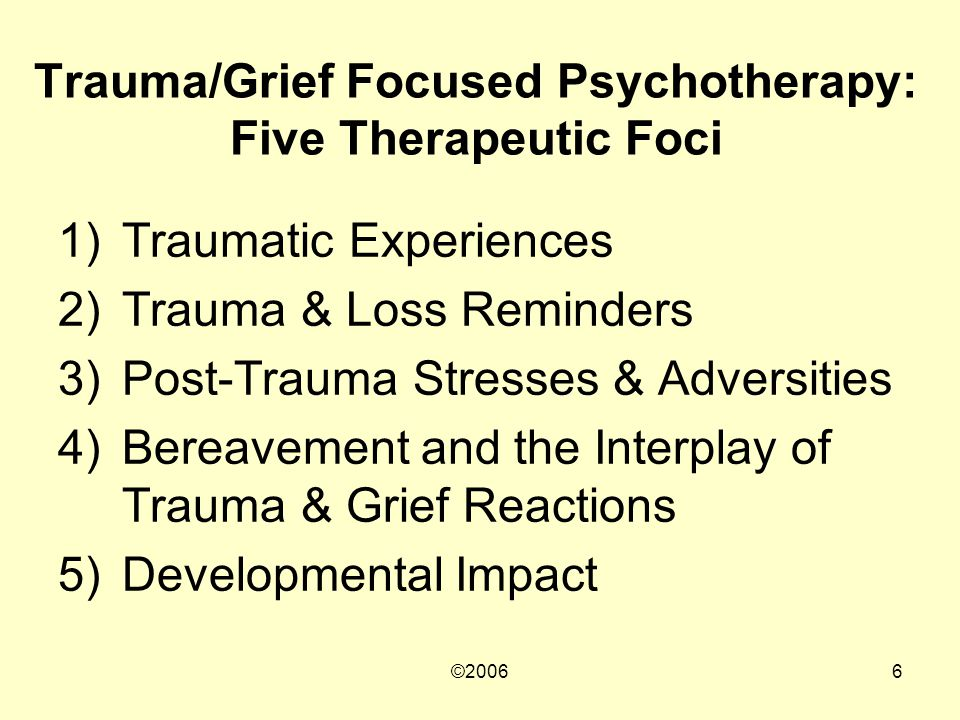 ©20067 Intervention Strategies Psychoeducation Skills Training Cognitive Interventions Prolonged Therapeutic Exposure Grief Processing/Facilitation Social Network Interventions Relapse Prevention