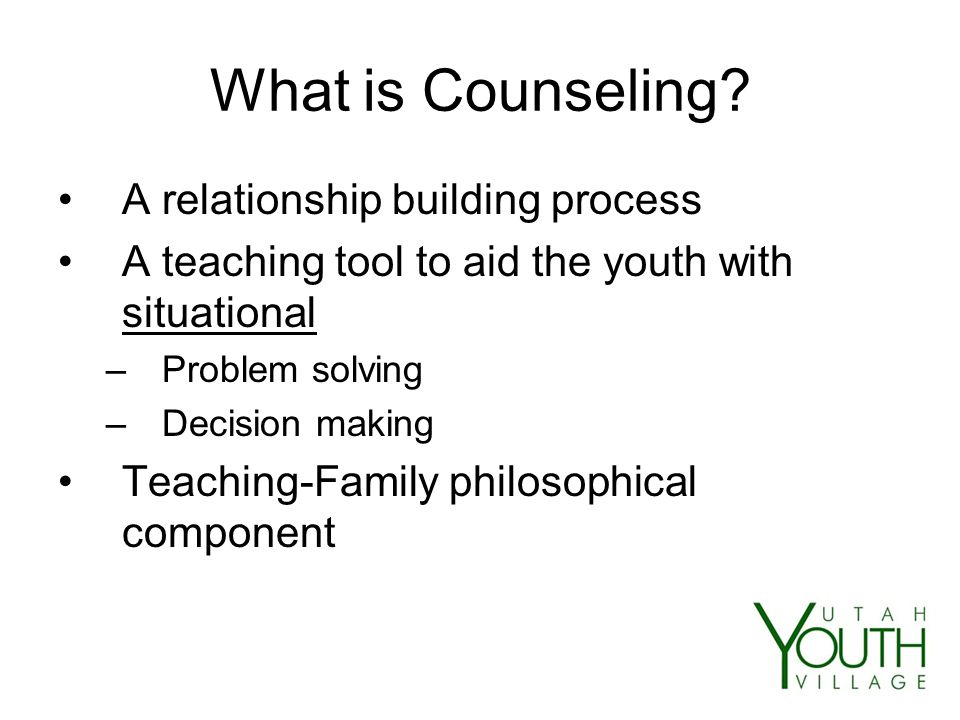 What is Counseling.