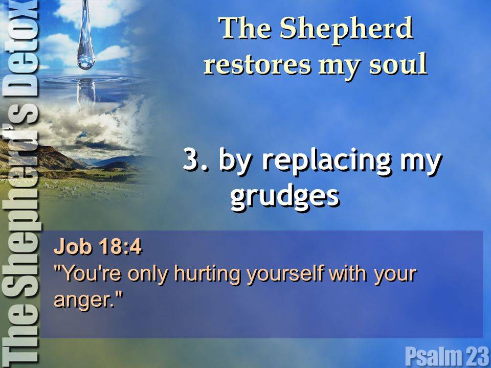 The Shepherd restores my soul 3.