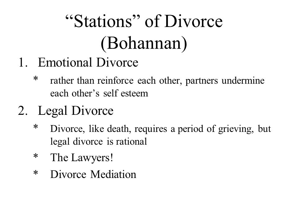 Aspects of Divorce 3.Community Divorce * Disruption in social networks 4.Economic Divorce * income-to-needs ratio * motherhood penalty 5.