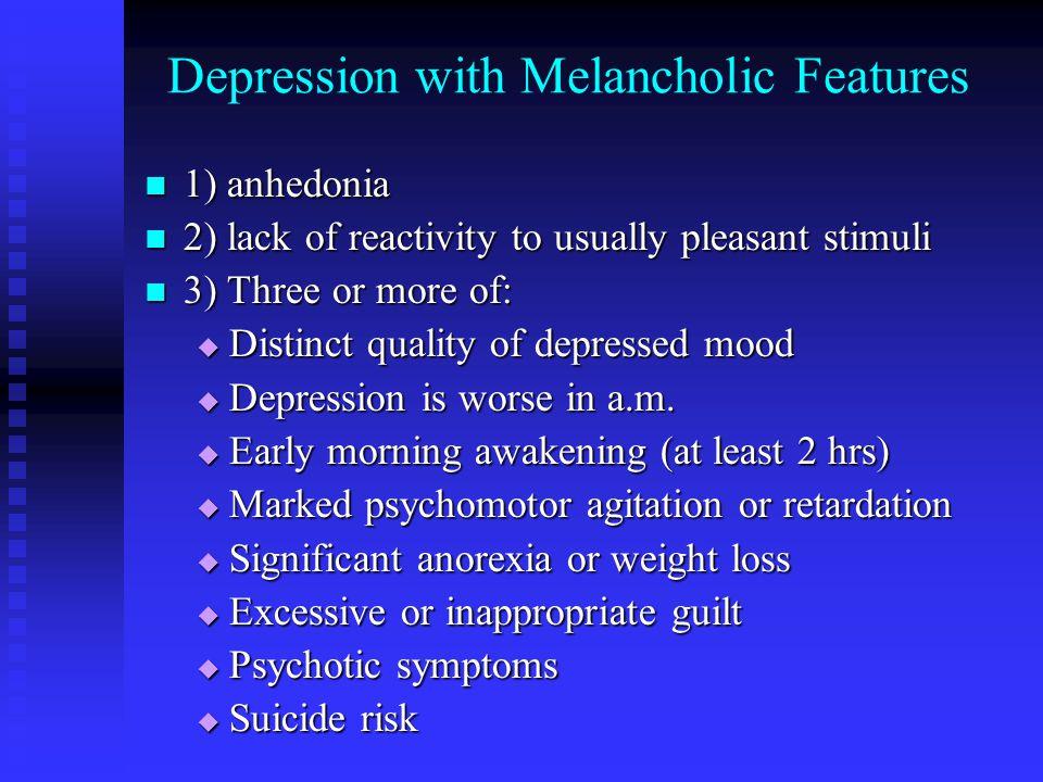 Prevalence of Depression Dysthymia DepressionDisorderTotalMalesFemales 6.4 % 6.4 % 4.8 % 4.8 % 8.0 % 8.0 % 17.1 % 12.7 % 21.3 % National Comorbidity Survey (1994)