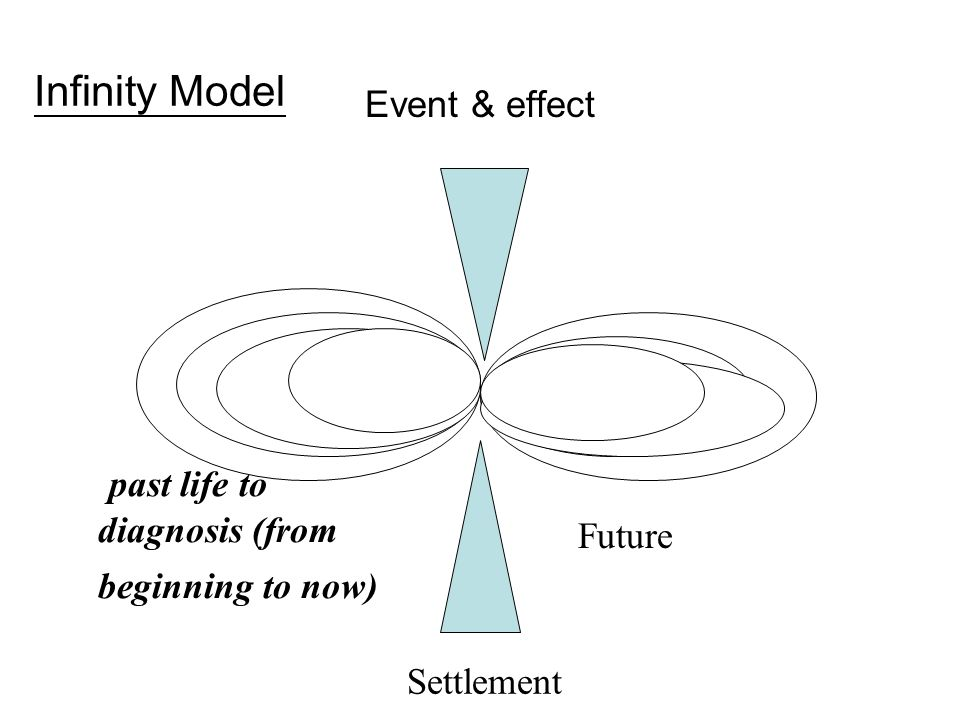 Event & effect Settlement past life to diagnosis (from beginning to now) Future Infinity Model