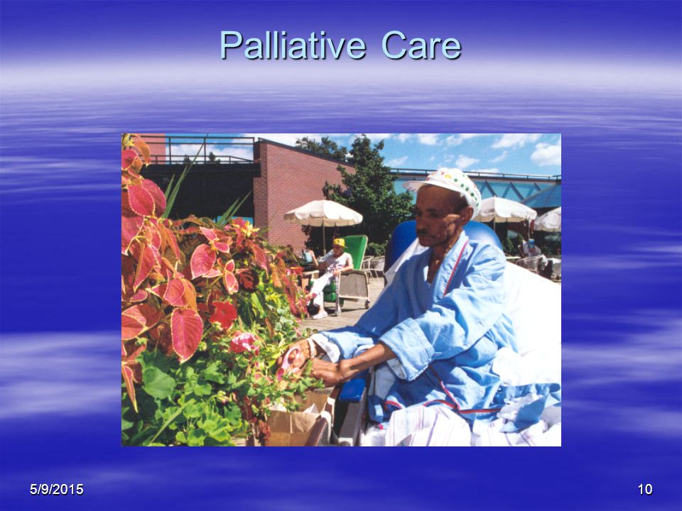 5/9/201510 Palliative Care