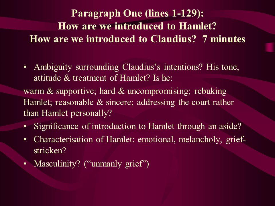 Paragraph 2 explore Hamlet's soliloquy.